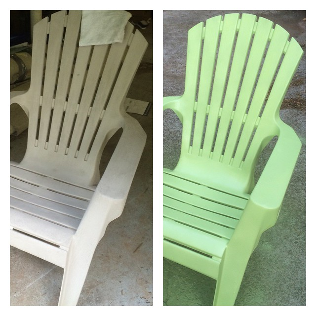 Pretty spray painted Adirondack chair