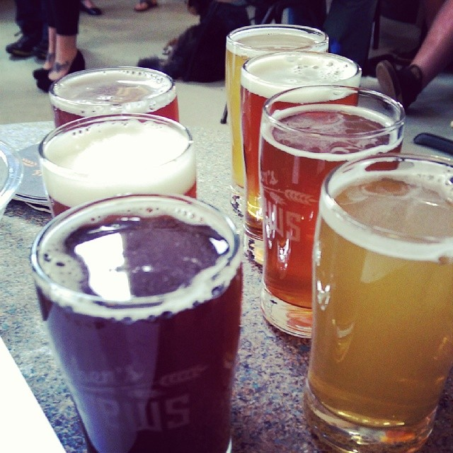 @598hertan's taster's at @reubensbrews #ryefest #craftbeer #seattle #drooling