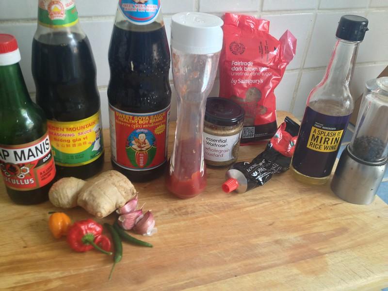 Succulent Sticky Pork : Marinade Starting Ingredients