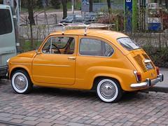 compact car(0.0), automobile(1.0), vehicle(1.0), fiat 600(1.0), seat 600(1.0), subcompact car(1.0), city car(1.0), zastava 750(1.0), antique car(1.0), classic car(1.0), land vehicle(1.0), coupã©(1.0),