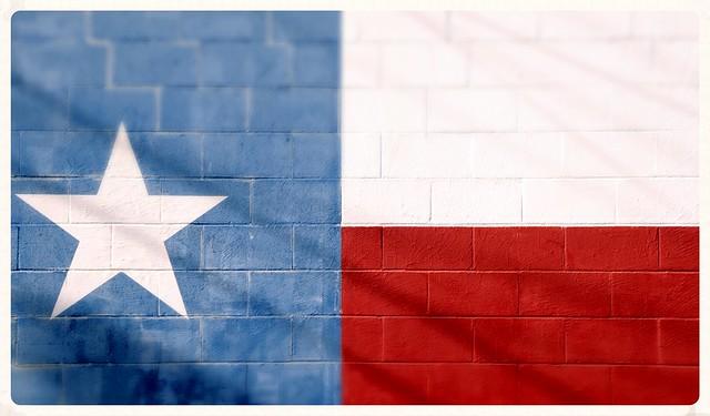 Texas Flag Cinder Blocks Star Red White Blue DSC_7762x