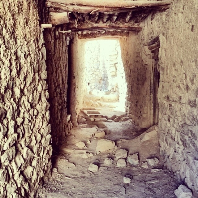 Abandoned village in the Wadi Bani Habib