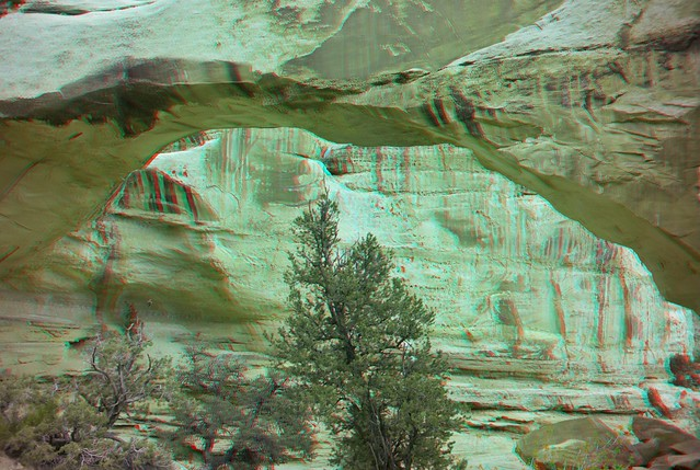 Natural Bridge, red/cyan anaglyph