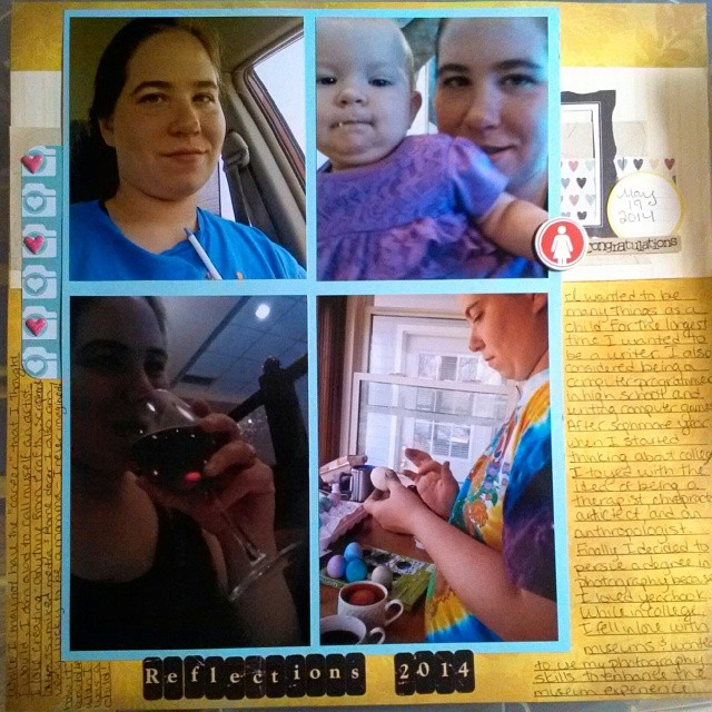 LOAD514 - Scrapbooking layout on Reflections in 2014