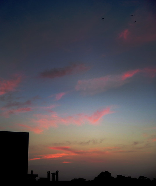very far away clouds