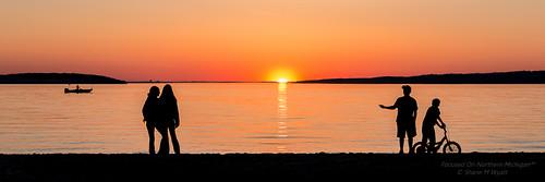 park city sunset panorama lake beach kids state michigan young silhouete pure charlevoix boyne shanewyatt focusedonnorthernmichigan