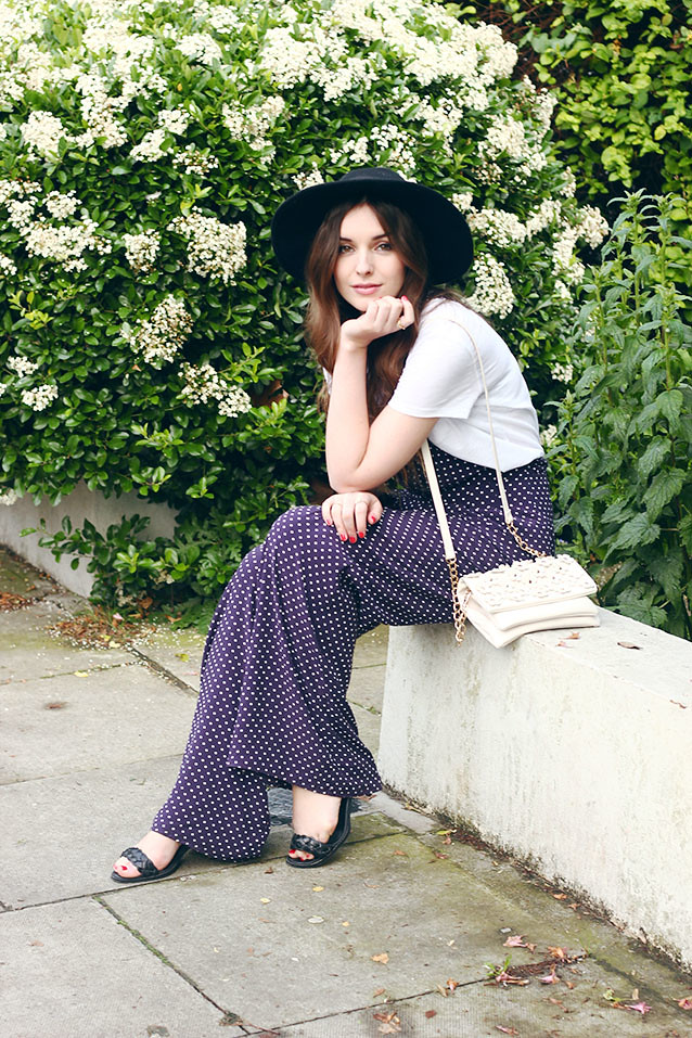 River Island Jumpsuit Seventies Inspired Outfit Fedora