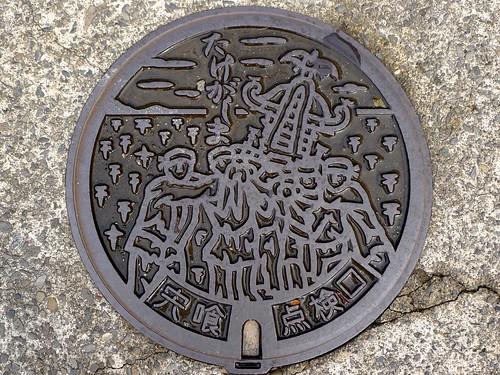 Takegashima Shishikui Tokushima, manhole cover (徳島県宍喰町竹ケ島のマンホール)