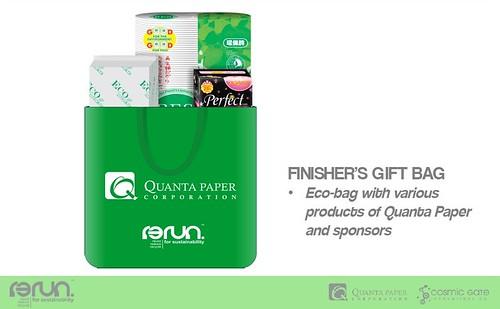 R3Run finisher's gift bag