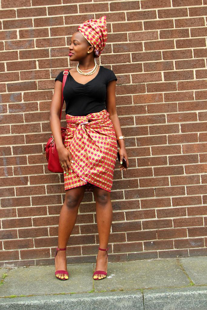 Tiffany-Amber-knot, chitenge headscarf, African print headscarf, headscarf, Ankara style, kitenge style, chitenge style, African print style, Ankara fashion, kitenge fashion, chitenge fashion, African print fashion, front knot style, side knot style, Nigerian style, traditional style, Nigerian fashion style, Tanzania fashion style, african kitenge styles