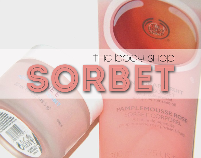 the body shop vitamin e aqua boost sorbet and pink grapefruit body sorbet