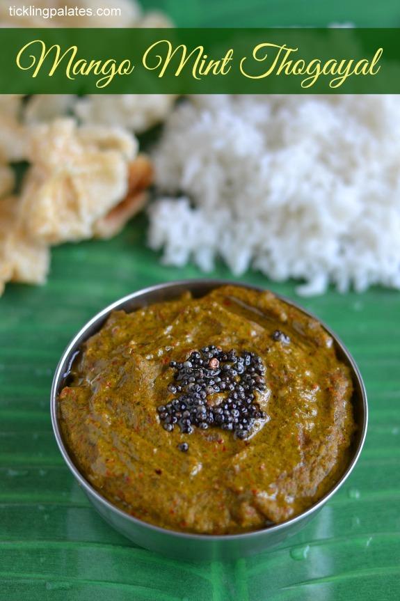 Mango Pudhina Thogayal Recipe