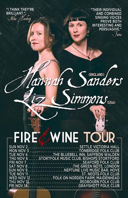 Hannah Sanders/Liz Simmons UK Tour Poster