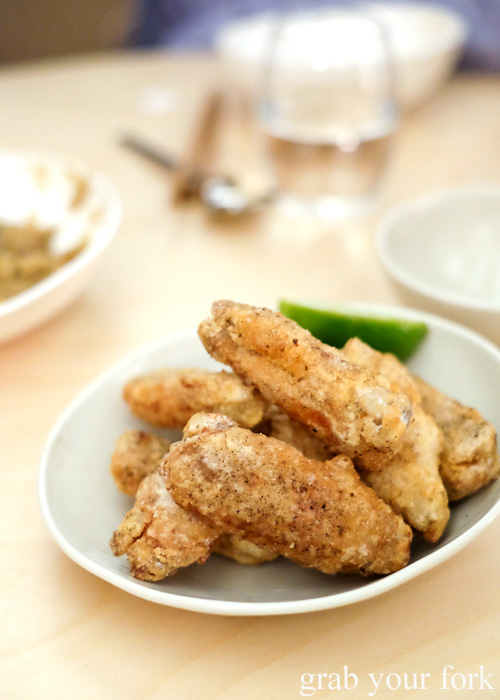 Salt and pepper chicken wings at Potts Point, Sydney