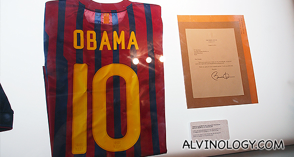 Special Obama jersey of the US President