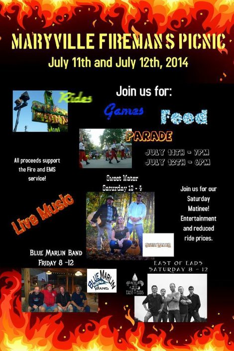 Maryville Firemans Picnic 7-11, 7-12-14