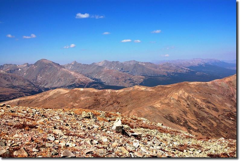 Tenmile Range as seen from Silverheels