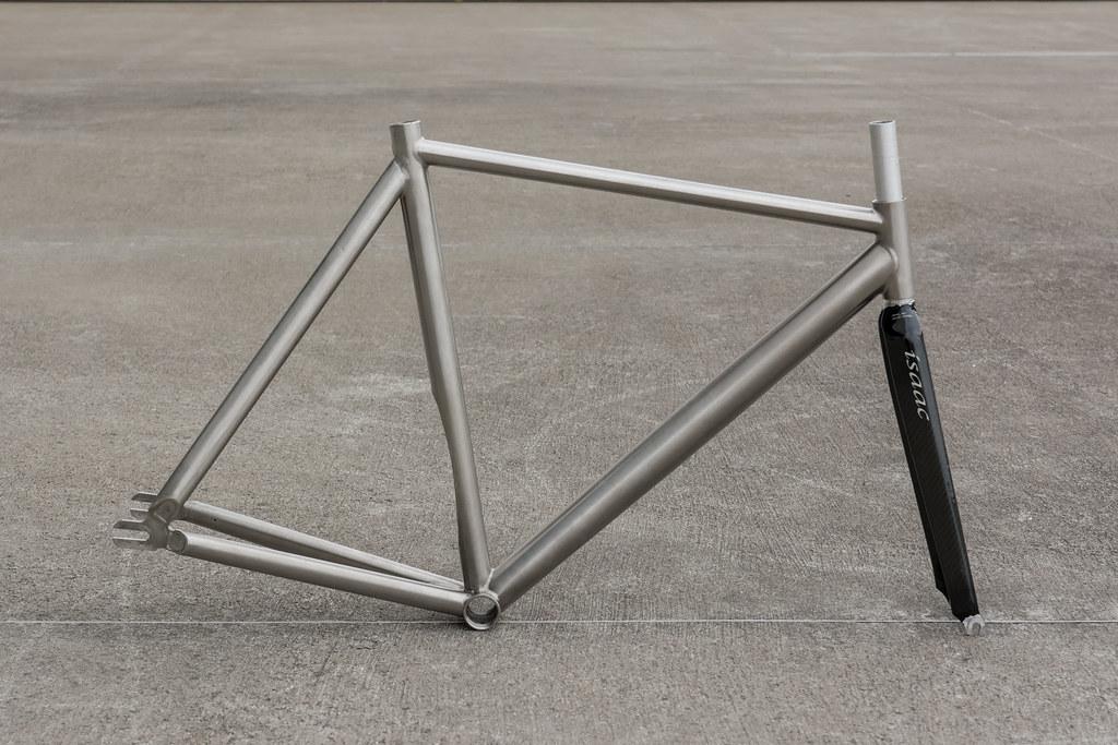 Custom Titanium Track Frame Set Isaac Carbon Fork Pista Aero Lo Pro ...