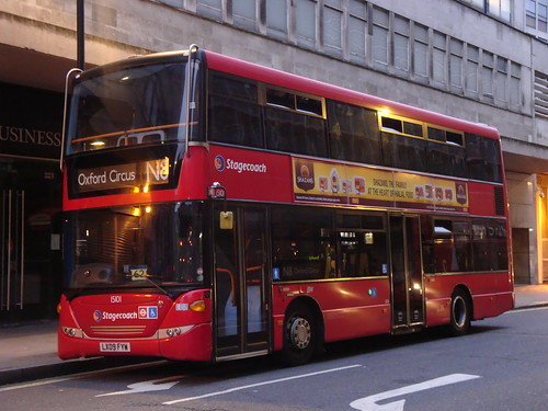 Stagecoach London 15101 on Route N8, Oxford Circus/Holles Street