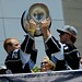 Los Angeles Kings Captain Dustin Brown and Anze Kopitar with Stanley Cup at 2014 Stanley Cup Championship Parade