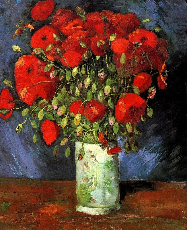Vase with Red Poppies by Vincent Van Gogh, 1886