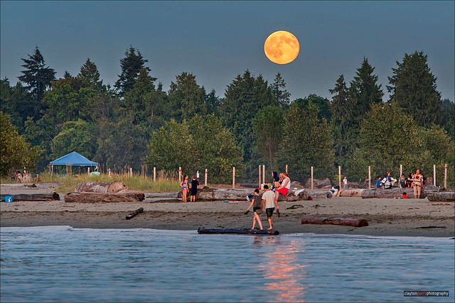 Super Moon Over Spanish Banks