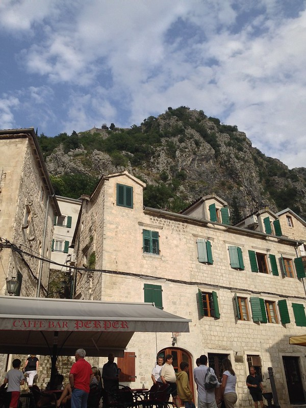 Kotor is surrounded by mountains