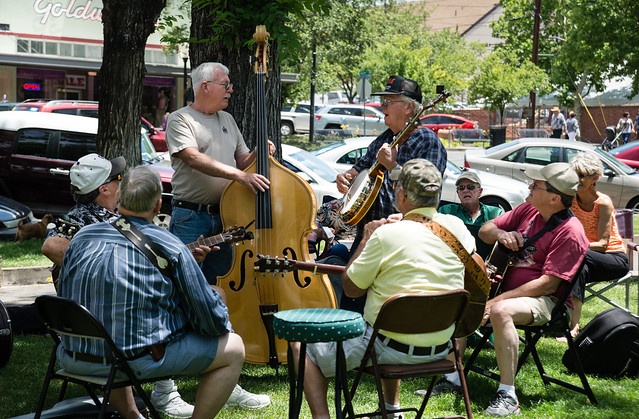 Group of Playing at the Prescott Bluegrass Festival 2014
