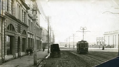 historic shops trams