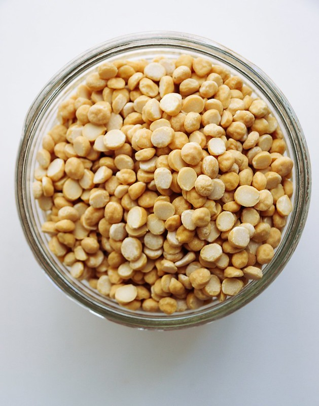 Chana Dal = young chickpeas, dehulled and split in half