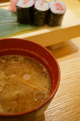miso soup with shrimps