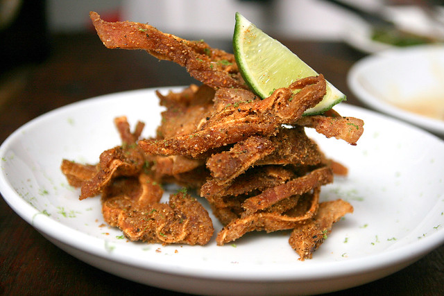 Crispy spiced pigs ears