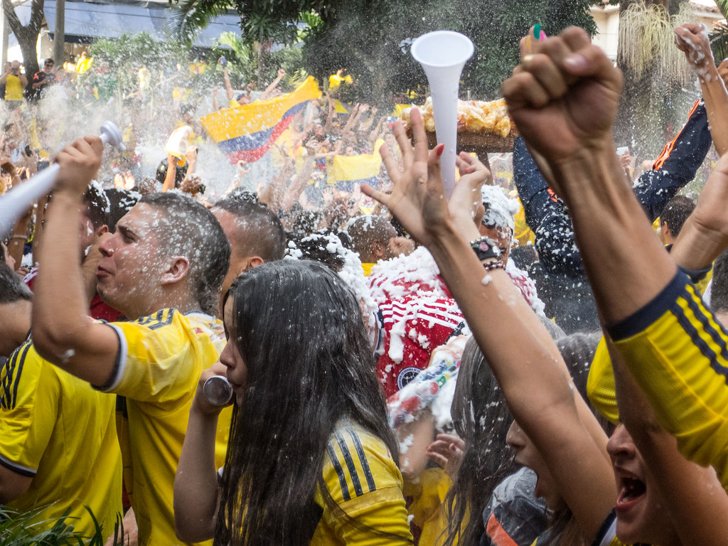 James Rodríguez scored both goals in Colombia's win