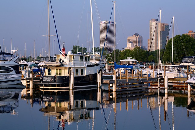 Summer Morning at McKinley Marina