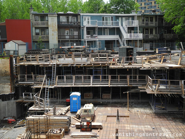 Impressive construction on Murray - Griffintown