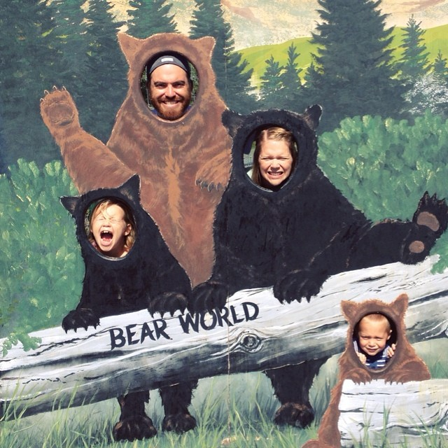 Bear World!!!! #score #christmascard2014 #growl #bearfamily #idaho