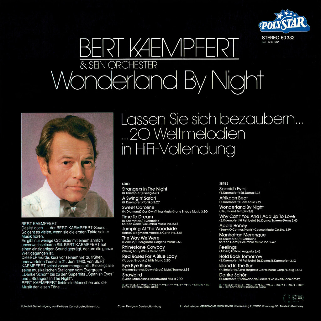 Bert Kaempfert - Wonderland by Night