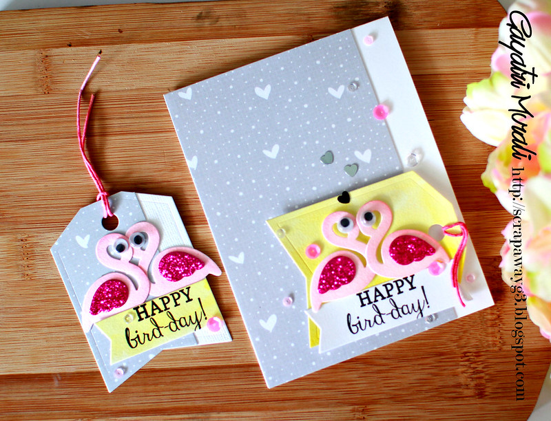Happy Bird-day card and tag
