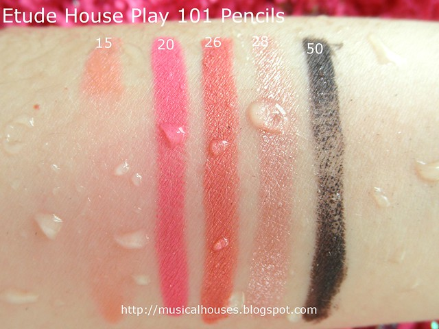 Etude House Play 101 Pencils Water Test