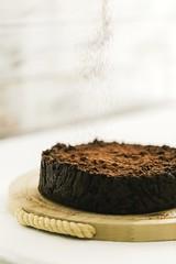 Torta di pane al cacao e cioccolato