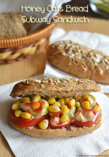 Honey Oats Bread Subway Style Sandwich