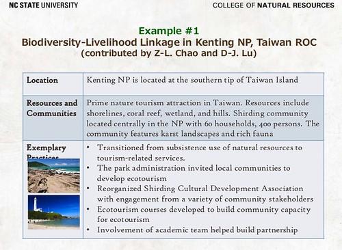 墾丁社頂部落的生態旅遊列入IUCN保護區與遊憩專題擔任最佳實務的案例。(圖片來源:李沛英)