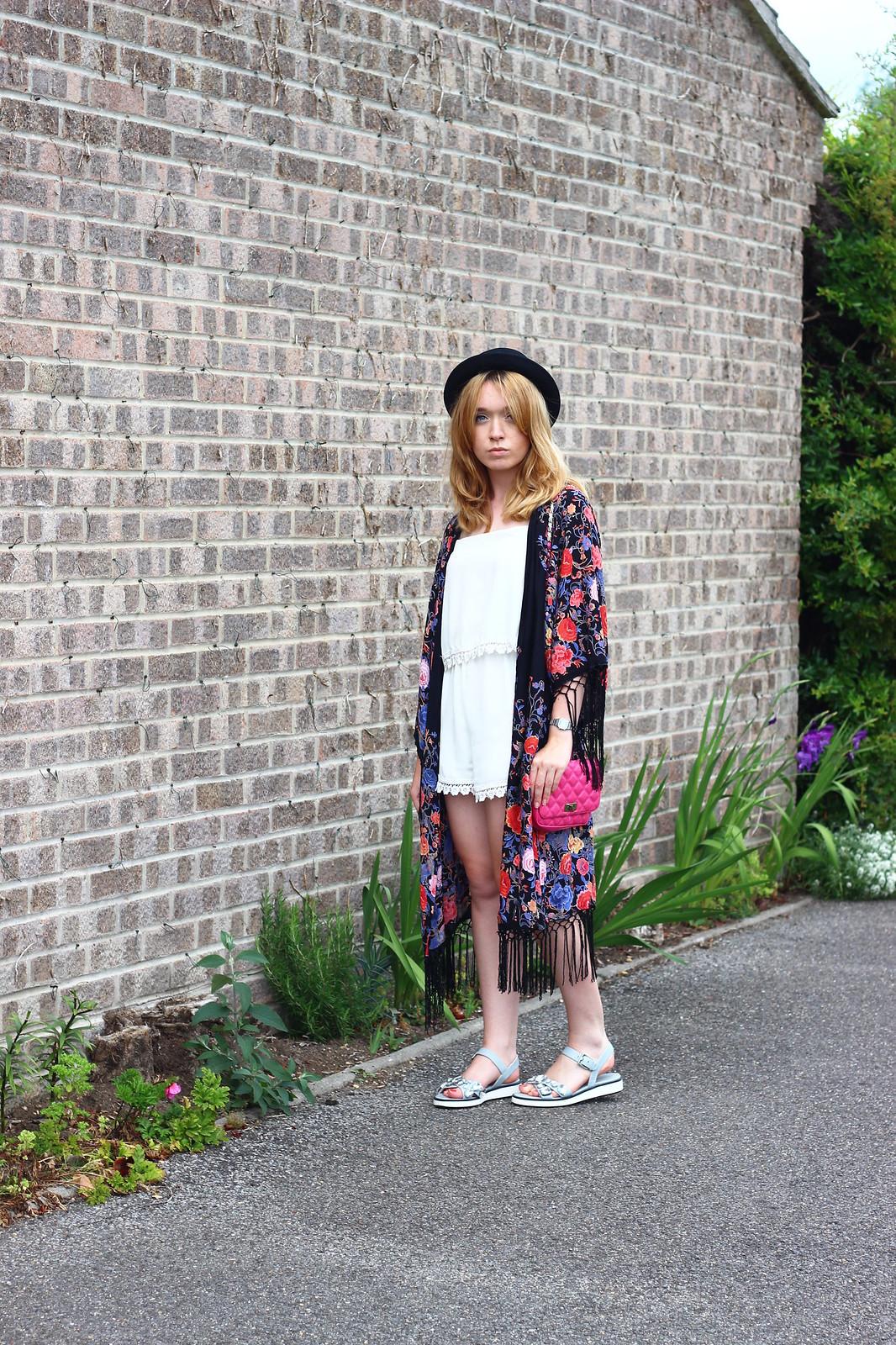 4primarkkimono, festival fashion, kimono, floral