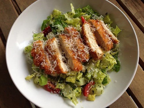 Chicken parm salad