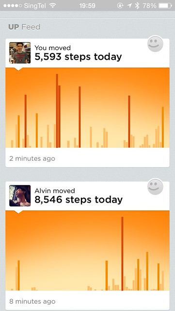 Jawbone UP iOS App - Feed