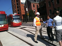 Martin DiCaro interviewing DDOT's Ralph Burns
