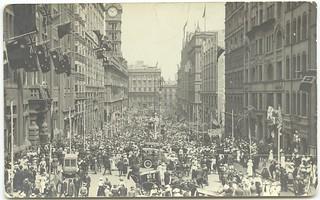 Armistice Day, Moore Street, Sydney NSW