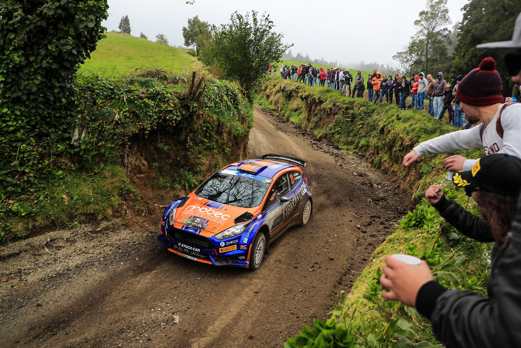 21 BARROS Joao HENRIQUES Jorge Ford Fiesta R5 Action during the 2017 European Rally Championship ERC Azores rally,  from March 30  to April 1, at Ponta Delgada Portugal - Photo Jorge Cunha / DPPI