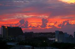 Sky's On Fire At Sundown Over PGUM