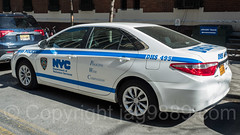 DHS Department of Homeless Services Police Car, Washington Heights, New York City